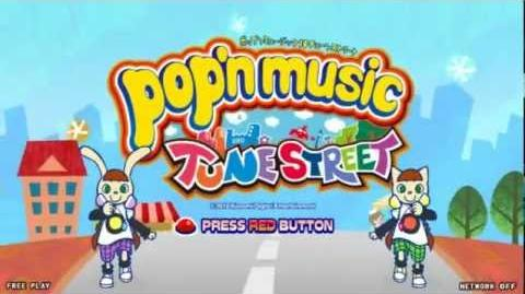 Pop'n music 19 TUNE STREET - Arcade Interface, Menu, Title, Song Selection