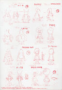 Pop'n Music Character Illustration Book 1-5-PnS Cover