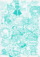 Pop'n Music Character Illustration Book 14-15 Cover