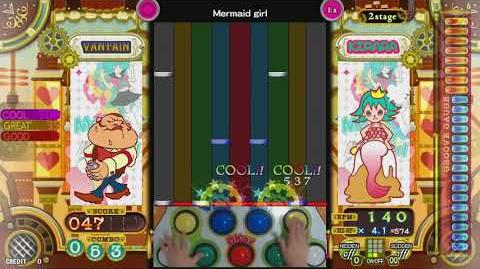 【pop'n music】 Mermaid girl EX Full Combo (Hand Shot)