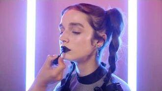 How to Black Lipstick with Poppy