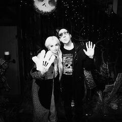 Manson and Poppy at Disneyland.