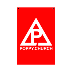 Poppy.Church Wall Flag ($9.99 USD)