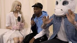Poppy Discovers MKTO's New Member At The 2018 -AMAs (EXCLUSIVE)
