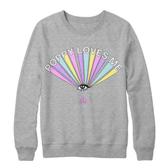 Poppy Loves Me Crewneck Sweatshirt ($39.99 USD)