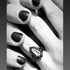 Poppy and Ghostemane holding hands after getting engaged.