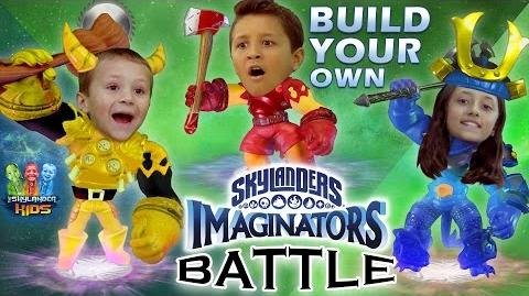 "Skylanders Imaginators Battle w Sky Kids! ""Create-Your-Own"" Duel! (Creation Crystal Challenge)"