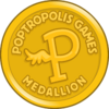 Poptropolis Games Medallion