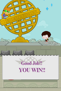 Poptropica Adventures catch win
