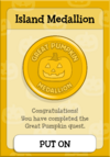 Great Pumpkin Island Medallion