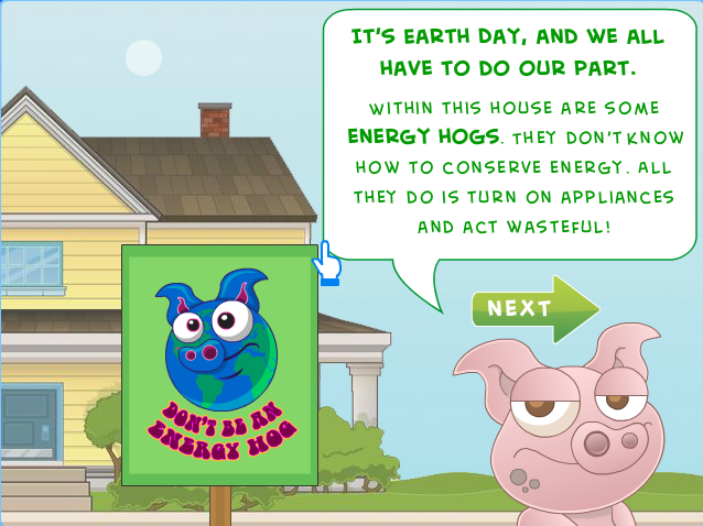 Energy Hog Game : Category earth day don t be an energy hog poptropica