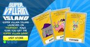 Super Villain Island Special Item Cards Announcment