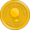 Monkey Wrench Medallion