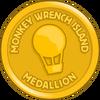 Monkey Wrench Medallion