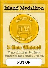 RealityTVMedallion