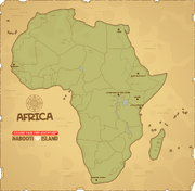 A poptropican map of africa
