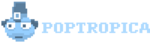 Early Poptropica Island logo transparent