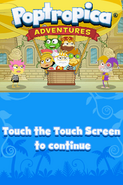 Poptropica Adventures title screen