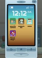 Gus' smartphone