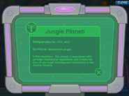 Jungle Planet Info on Giant Hawk's Ship's Computer