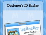Designer's ID Badge