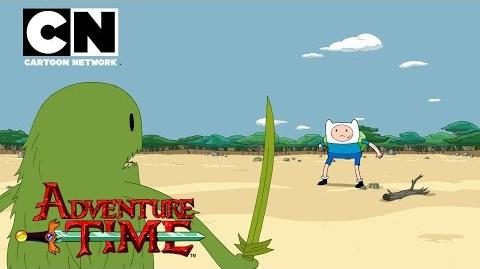 Adventure Time Finn and the Grass Dude Cartoon Network