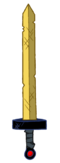 Golden sword of battle