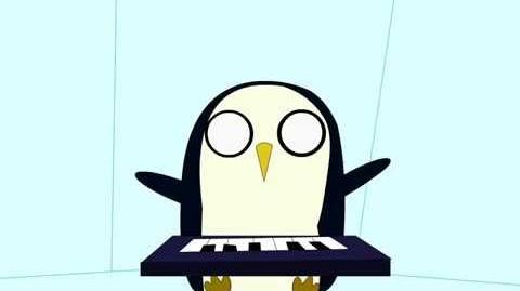 Gunter the keyboard penguin Adventure Time Gunter keyboard cover