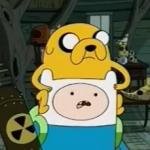 Finn i jake z pociskiem