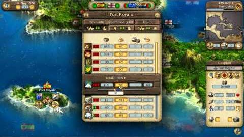 Port Royale 3 Pirates & Merchants Video Tutorial No. 1 - Basic Gameplay