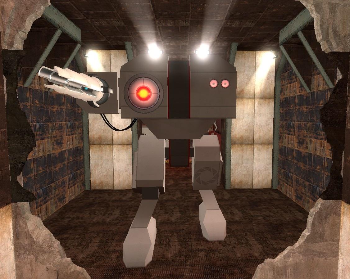 GLaDOS' Mech Robot   Portal 2 PTI Wiki   FANDOM powered by Wikia