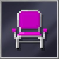 Pink Metal Chair