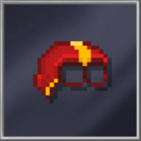 Red Half-Head Mask