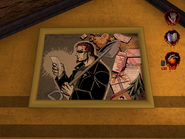 Artwork of Postal Dude inside the Church of VD