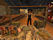 Woman selling items related to errands from Postal 2 001