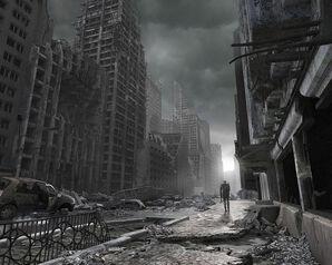 Post-apocalyptic-street