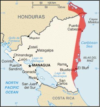 Map Miskito