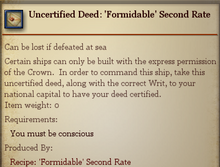 Uncertified Deed Formidable Second Rate