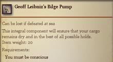 Geoff Leibnizs Bilge Pump