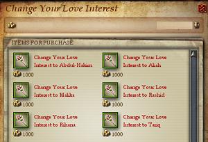 Love Interest change