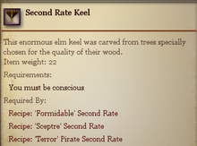 Second Rate Keel