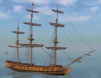 Gallant Naval Frigate