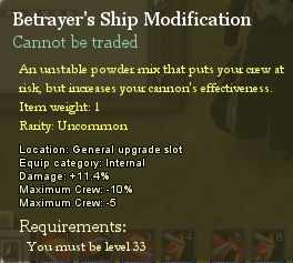 Betrayers ship modification
