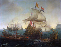 771px-Vroom Hendrick Cornelisz Dutch Ships Ramming Spanish Galleys off the Flemish Coast in October 1602