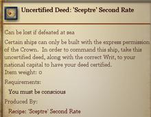 Uncertified Deed Sceptre Second Rate