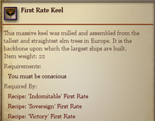 First Rate Keel