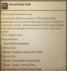 Second Rate Hull