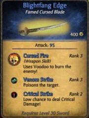 Blightfang Blade