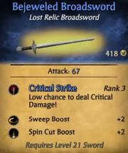 Bejeweled Broadsword