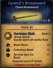 General's Broadsword